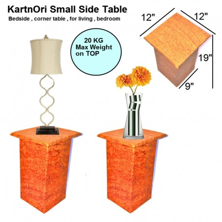 "KartnOri Handicrafts small side table for bedroom , living room as center , coffee , end table (size LxBxH : 12""x12""x19"")"