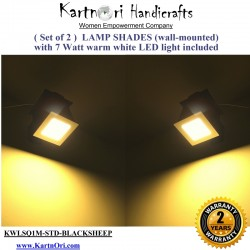KartnOri Wall mounted lamp shades with LED light included - BLACKSHEEP (SET OF 2 )