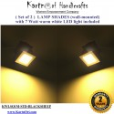 Pack of 2 Blacksheep Wall mounted lamp shades with LED light included.