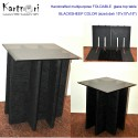 WENGE FOLDABLE BROWN GLASS TOP side/center/coffee table  with 8MM Brown GLASS TOP