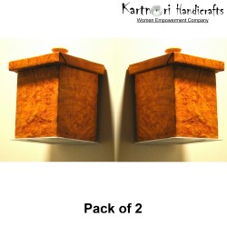 KartnOri Wall mounted lamp shades with LED light included - TIGERWOOD (SET OF 2 )
