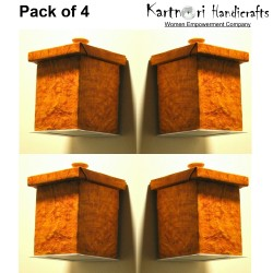 TIGERWOOD pack of 4 Wall mounted lamp shades with LED light included