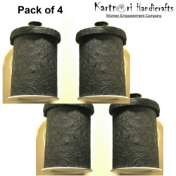 BLACKSHEEP Pack of 4 Circular Wall mounted lamp shades with LED light included