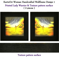 Handcrafted Wall-frame Set of Lady Warrior 2 pieces